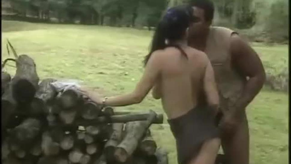 White Women Get Fucked by Black Men in The Forest