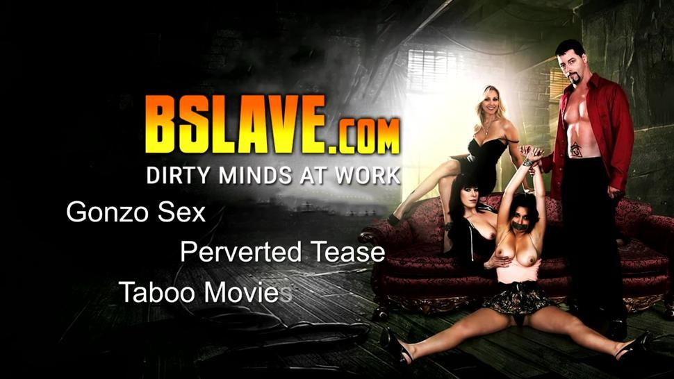 Naughty sex slave will do anything for cum