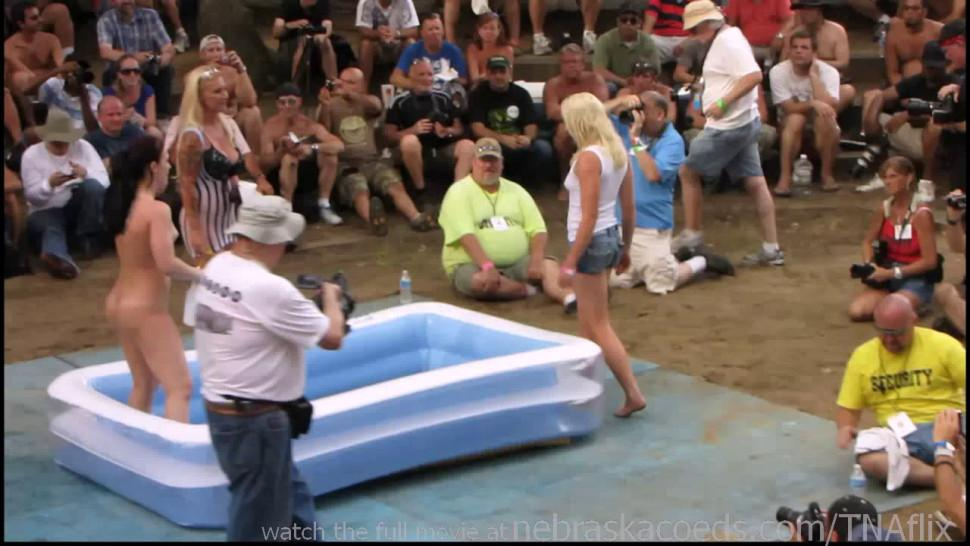 NEBRASKACOEDS - amateur nude contest at this years nudes a poppin festival in indiana