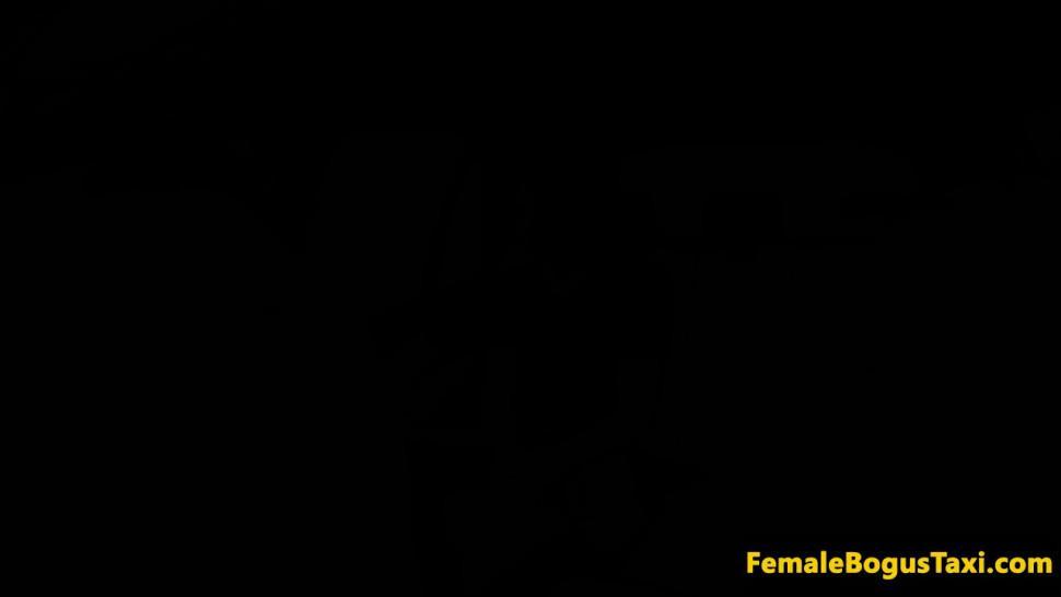 FEMALE BOGUS TAXI - European cabbie fucking passenger in public