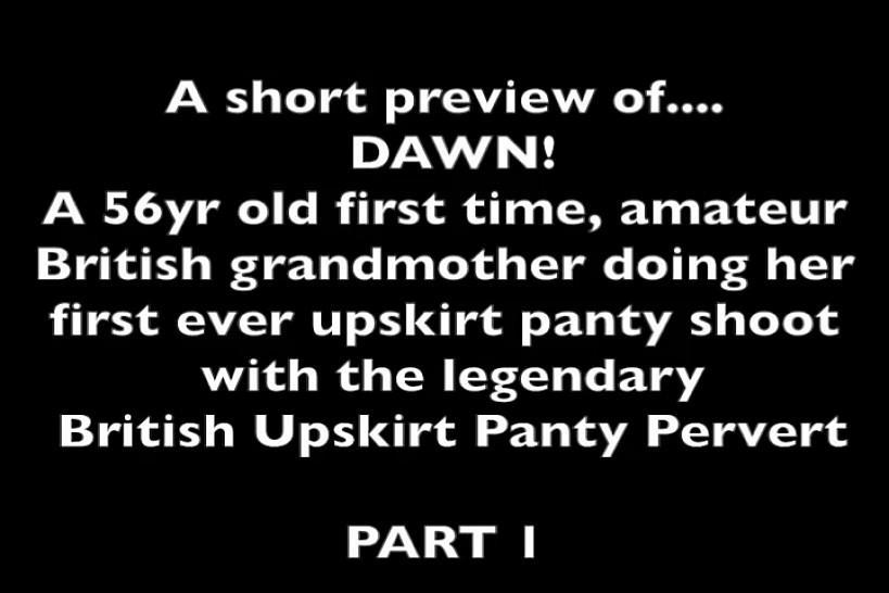 BRITISH UPSKIRT PANTY PERVERT - Amateur upskirt British granny showing her panties