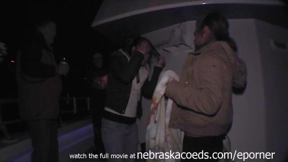 Hot Teens Stripping Naked And Dancing On A Spring Break Party Boat