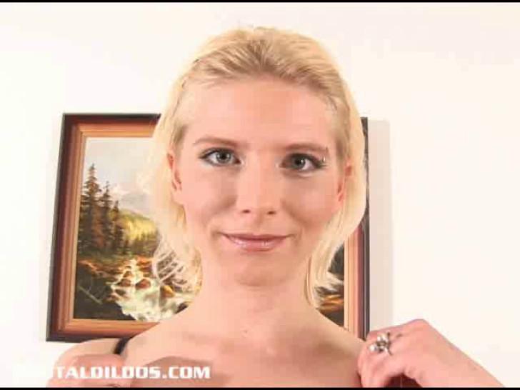 BRUTAL DILDOS - Blonde amateur fills her pussy with a big brutal dildo