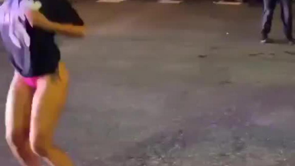 Bratty Ebony Slut Twerking For White Cops Viewing Pleasure  #BlueBonersMatter