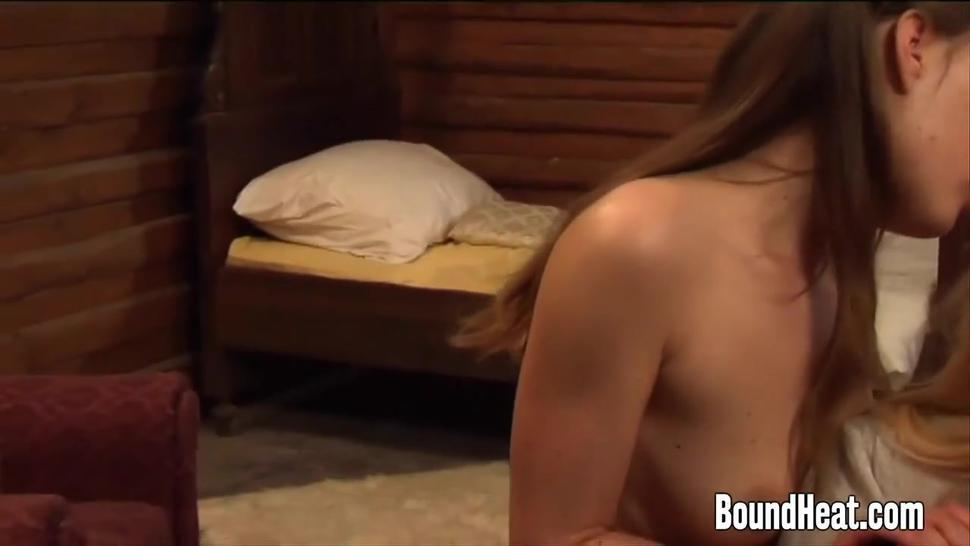 Two Young Slaves Pleasuring Curvy Blonde Mistress