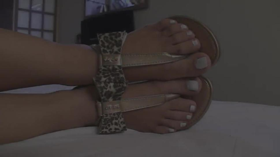 Cristine's First Foot Domination Smell Feet and Lick Feet