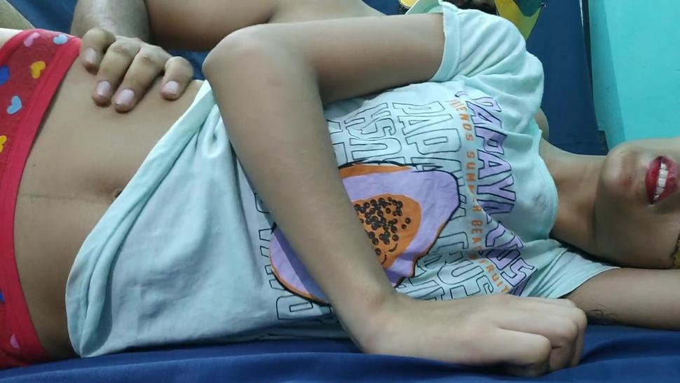 18yr indian teen school girl seduces and fucked very rough by desi hindi teacher in clear hindi talks