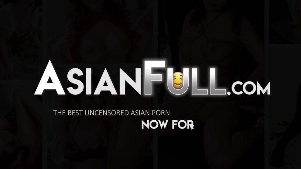 Uncensored Asian slut loves getting her amateur ass pounded rough