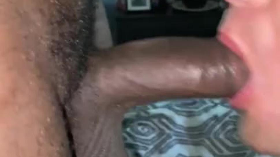 White Twink Services Hung Black Dick To Get A Facial