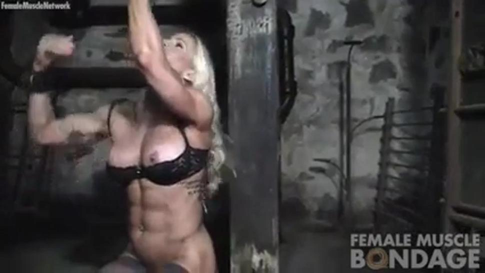 # Muscle girl in chains
