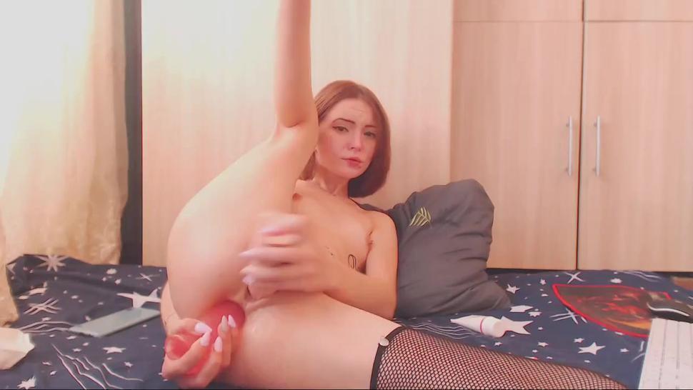 Asya_sweet double penetrated with dildo & fucked