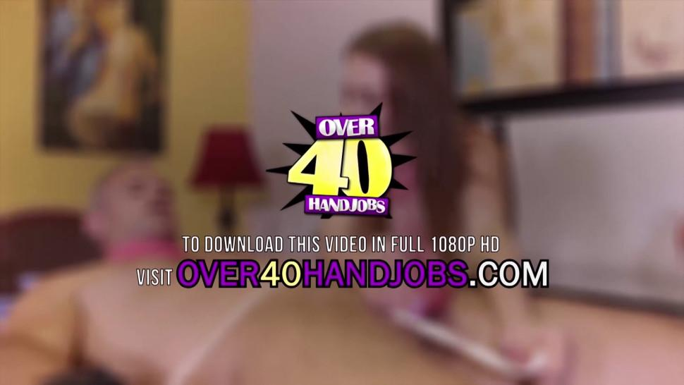 OVER FORTY HANDJOBS - Latina Step Mom Isabella Jacks off Her Monster Cocked Step Son