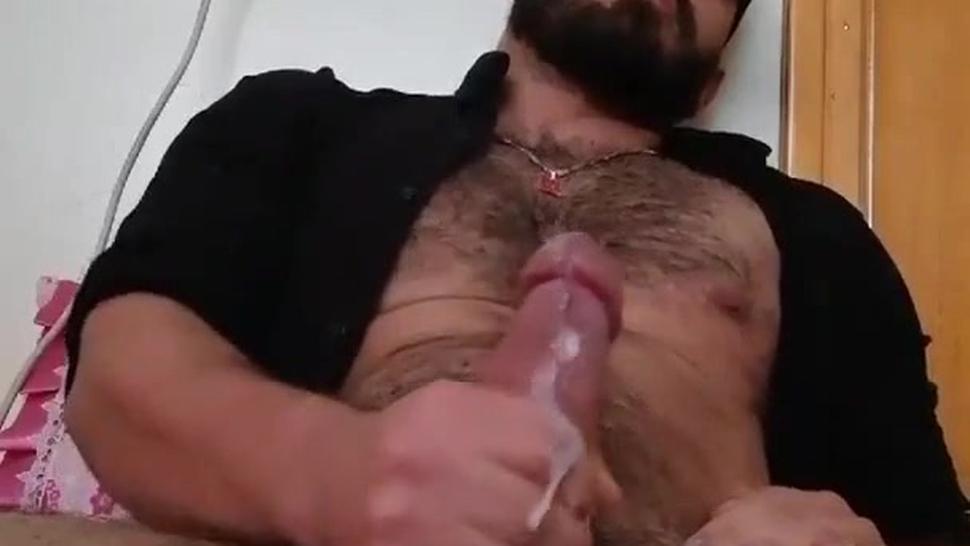 Turkish Guy Huge Dick And Balls Cums A Huge Load