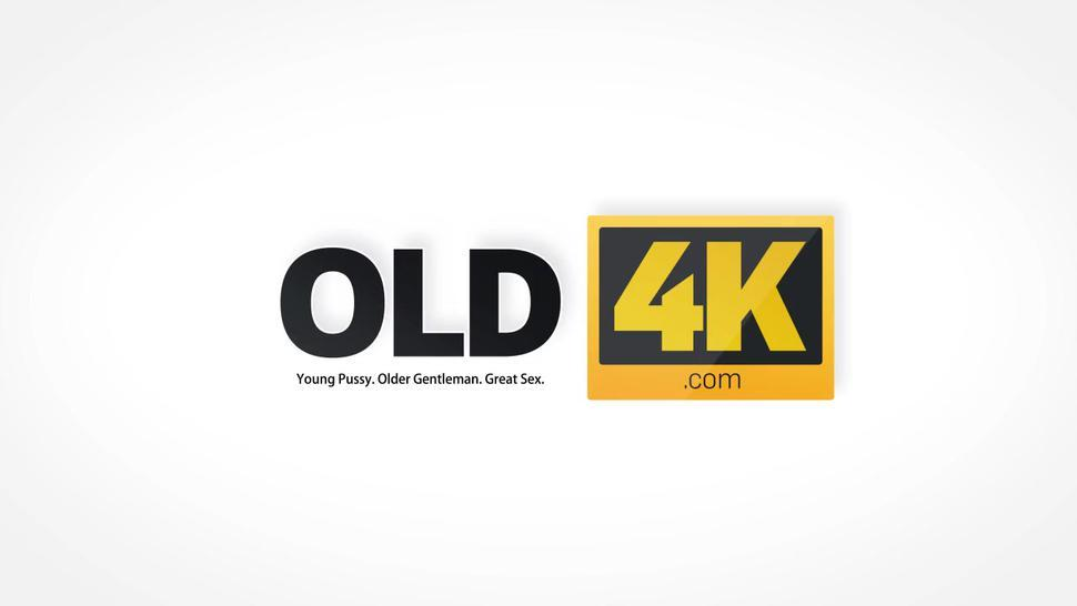 OLD4K. Only old guy can satisfy teen lassie like in her dirty dreams