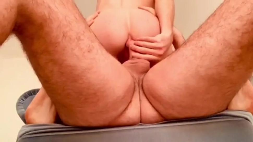 Hairy daddy ploughs and fills ginger twink with his load
