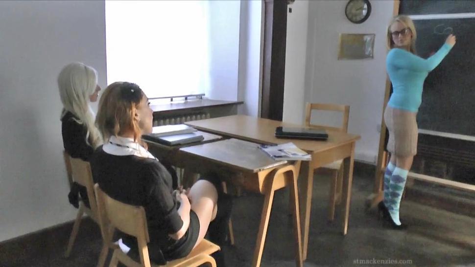 Naked Schoolgirls And Their Naughty Teacher