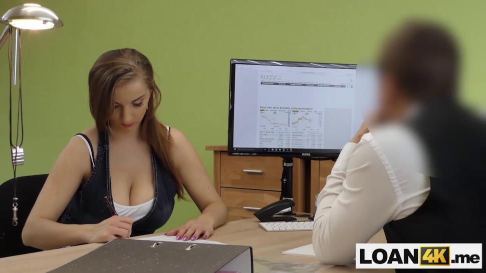 Huge boobs MILF crashed husbands car and needs a loan