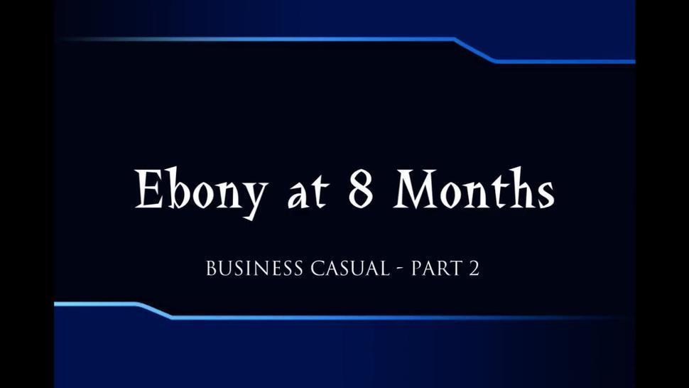 Pregnant ebony at 8 months