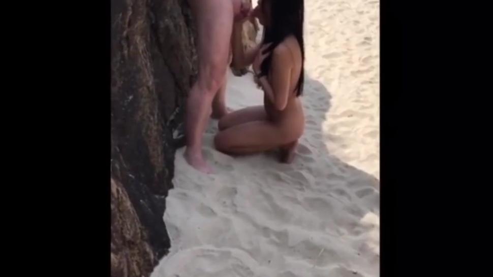Anal beach sex