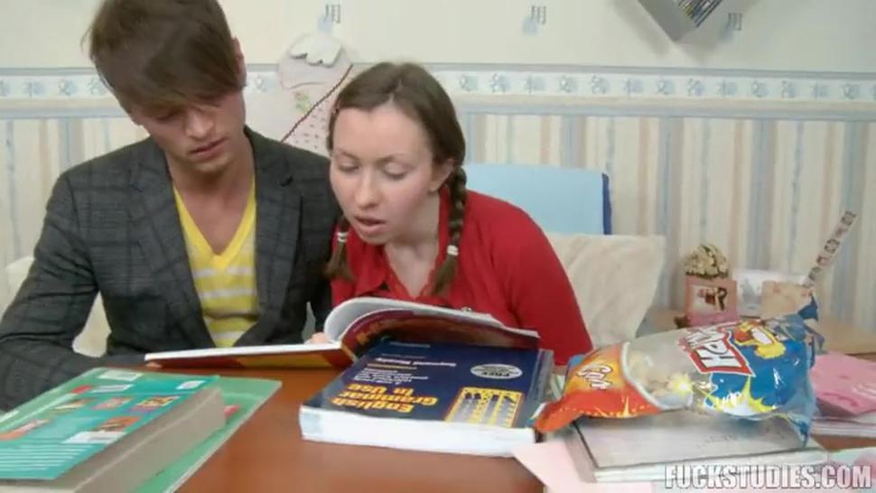 Handsome Guy Helps Bretta With Learning - Wendy Harper