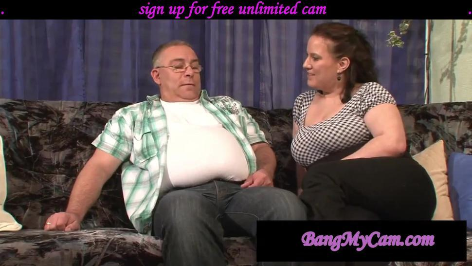 3SOME OLD GUY GET 2 MILF - curvy busty