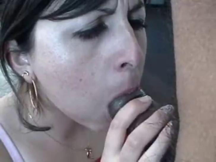 My next door neighbor getting a mouthful of cum