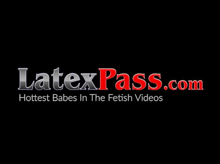 LATEX PUSSY CATS - Busty latex vixen dominates young dark skinned babe