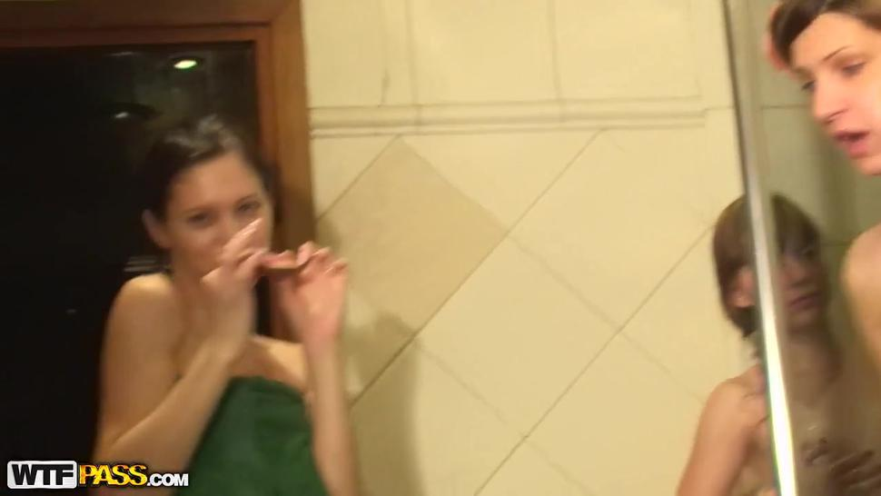 Naked Girls Party in a Sauna, Part 5