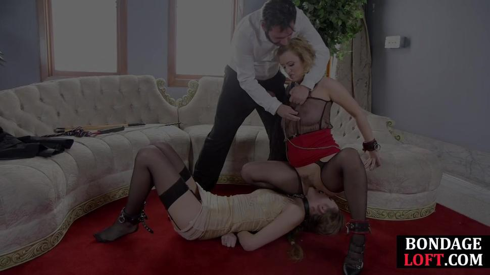 THE UPPER FLOOR - Busty BDSM subs punished with bondage and sex
