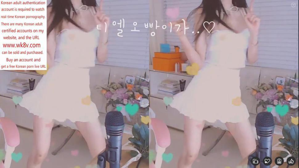 Korean long-legged high-value beauty upskirt hot dance, self-touch series
