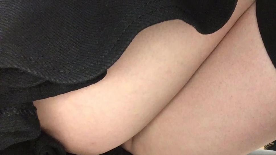 Ass Popping Out Walking Public in Mini skirts no panties - exhibit training