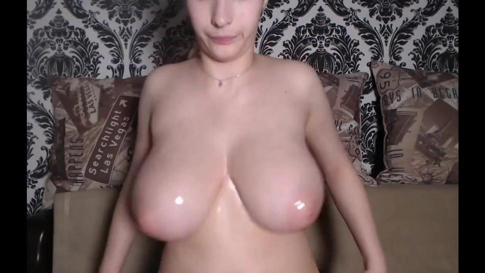 oily big natural tits