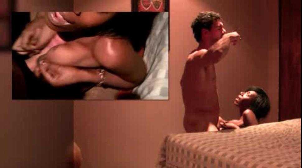 Sexy african naked babe cunt nailed doggy in a hotel room - video 1