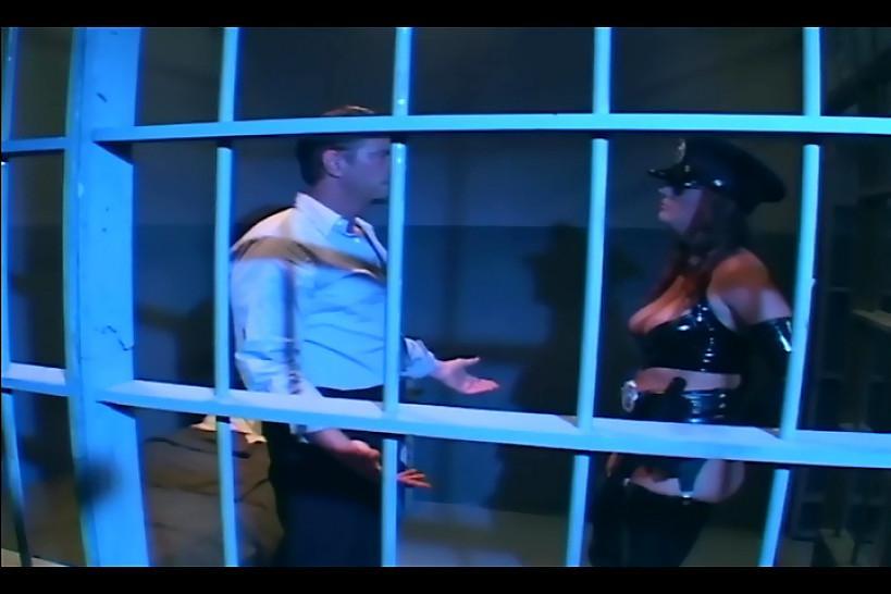 LINGERIE VIDEOS - Brunette in uniform fucking in latex lingerie and gloves