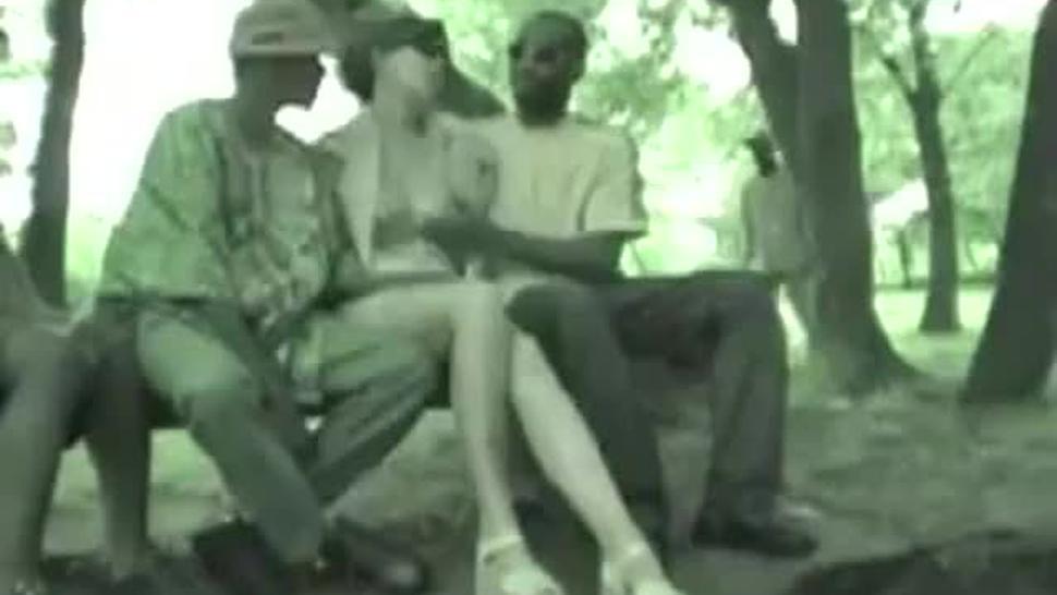 Gangbanger by big black dick at the park