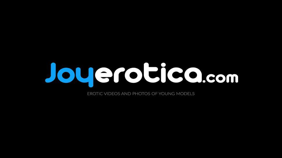 JOYEROTICA - Romantic blonde lesbians pussy playing after erotic shooting