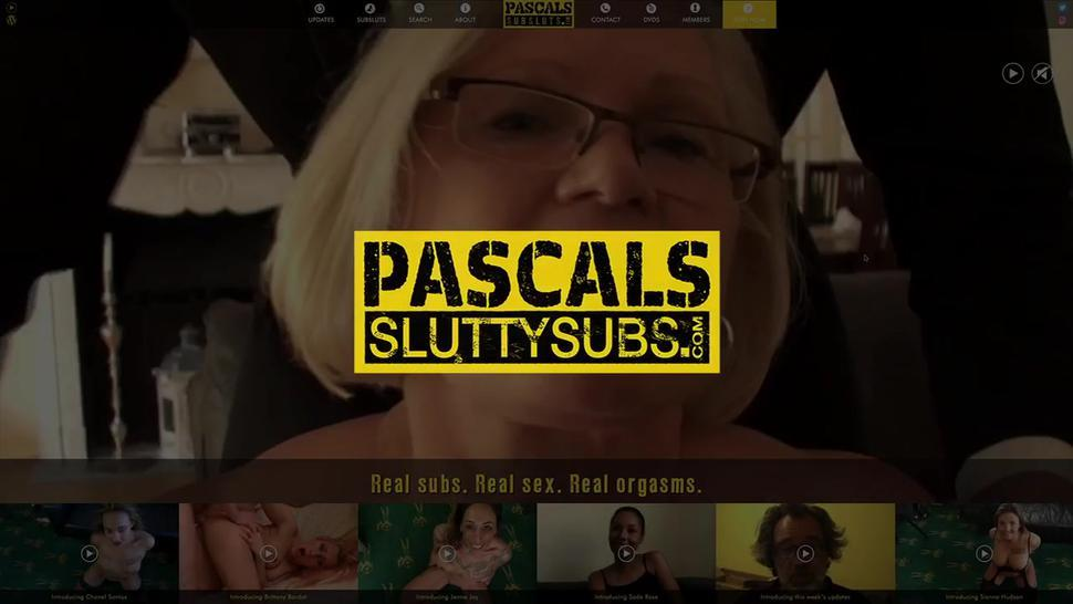 PASCALS SUB SLUTS - Bound bbw submissive gets whipped