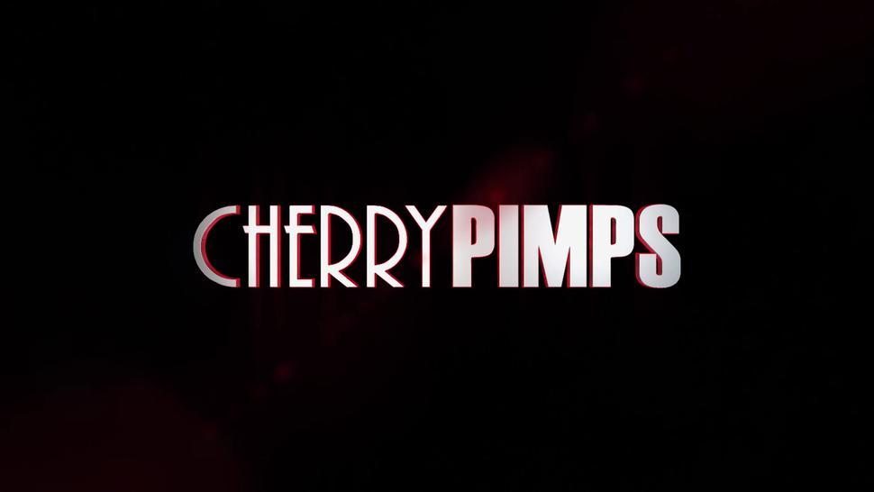 CHERRY PIMPS - Hot Blonde Wife Pounded Hard In Front of Wussy Husband By a Badass Stud