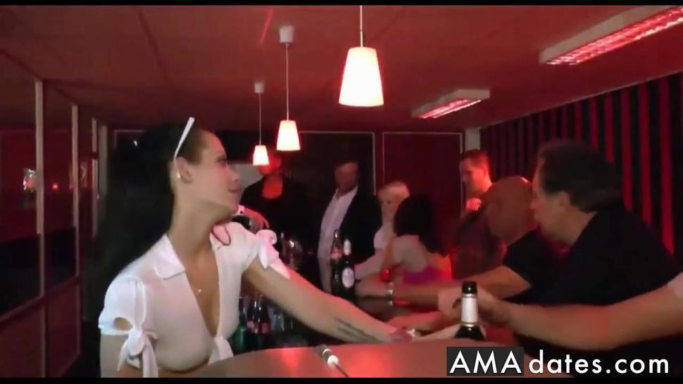 young sluts fuck with crunk customers in pub
