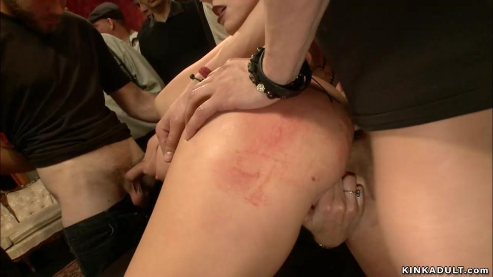 Big tits slave ffm gang bang public sex