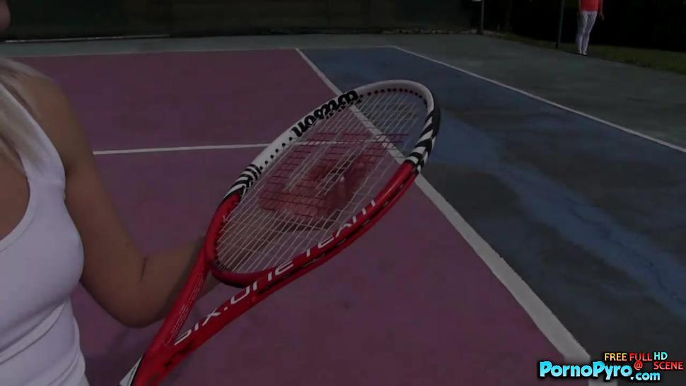 Tennis Teen Lesbians Finger One Another On The Courts - PornoPyro.com