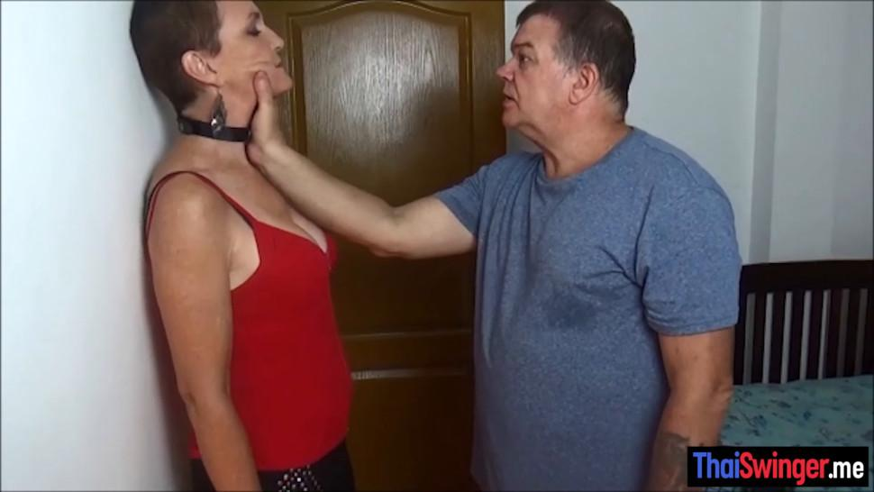 The first training of the hot amateur Thai slut wife