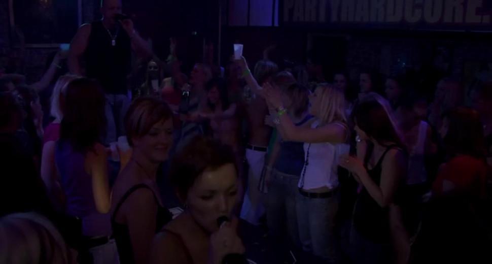 Group sex wild patty at night club - video 77