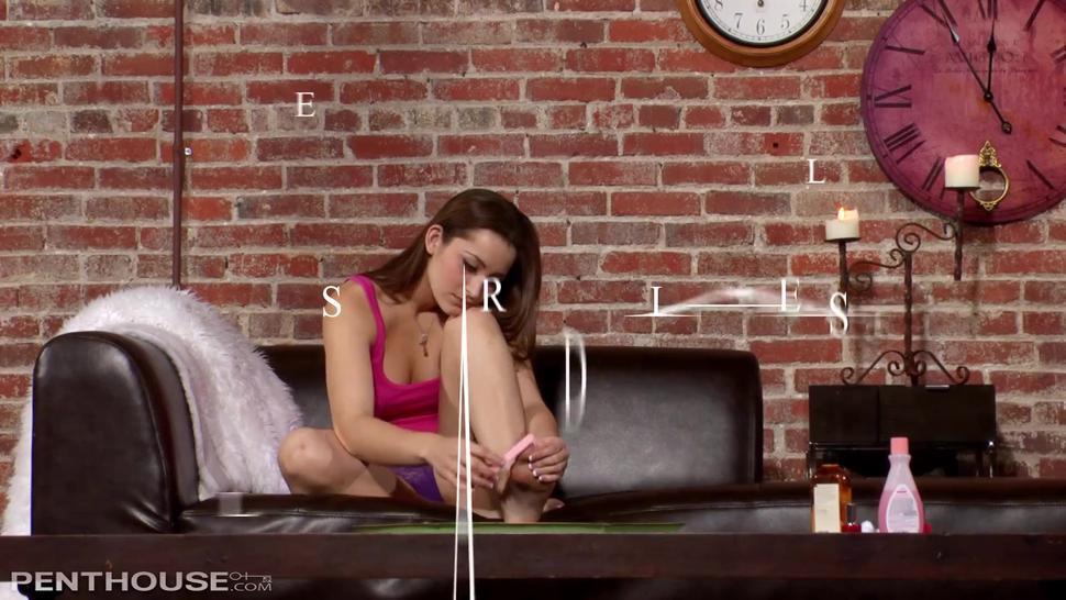 Kinky foot sucking leads to hot lesbian sex for Celeste Star & Dani Daniels