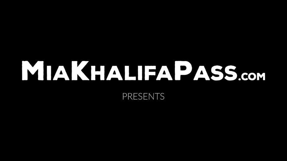 MIA KHALIFA PASS - Hot Mia Khalifa moans while taking big cock reverse cowgirl