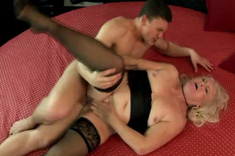 Lingerie granny pussyfucked deeply