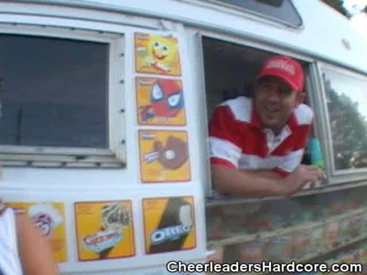 CHEERLEADERS HARDCORE - Cheerleader Sucks On Ice Cream Guys Cock