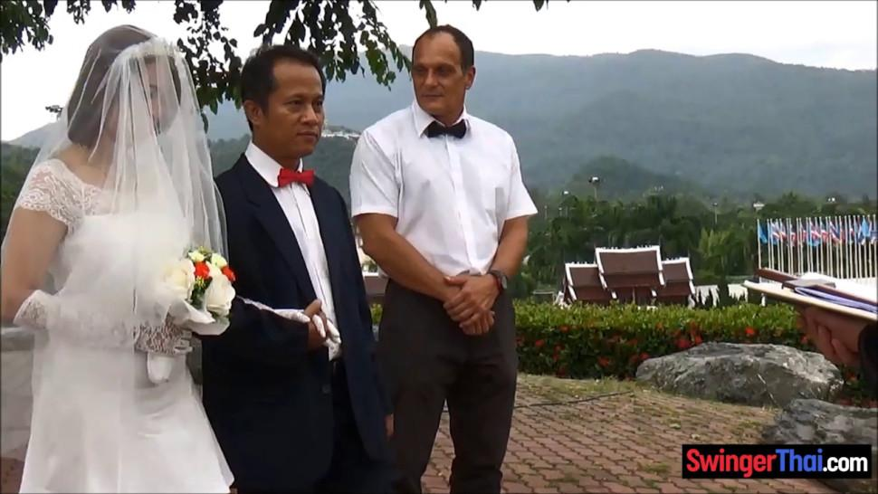 Asian bride cheats on husband right after the ceremony
