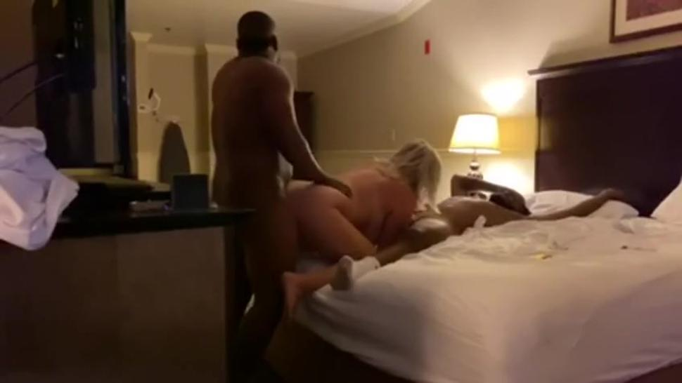 1 milf 2 bbc play date in hotel for husband to watch