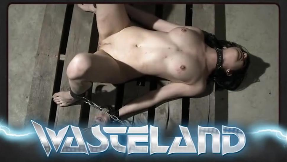 Sexy restrained slave tastes her pussy juices from her Masters fingers